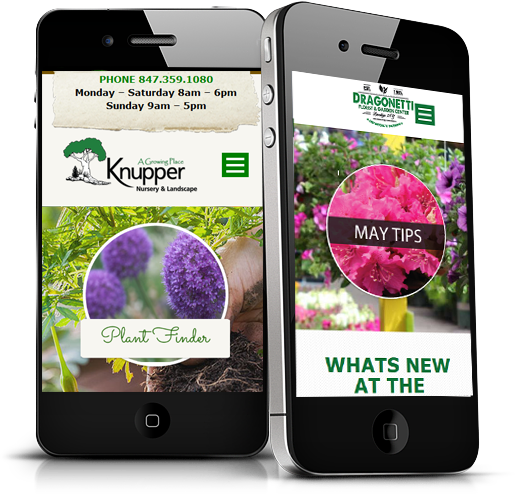 Garden Center Marketing Responsive Web Graphic Designing